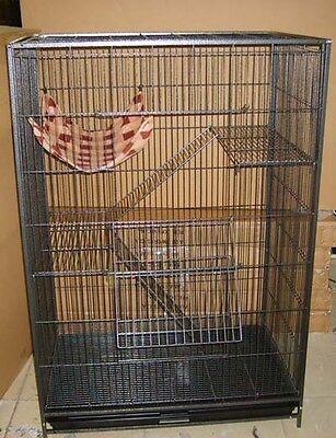 Large Wrought Iron 3 Levels Cage for Cat Ferret Chinchilla Sugar Glider Bird