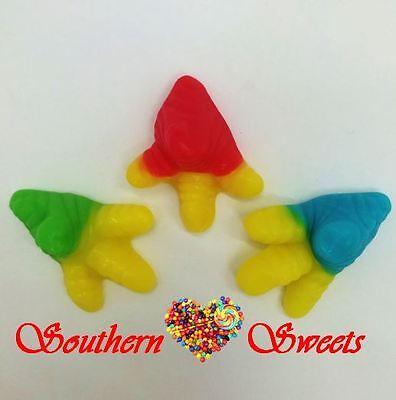 Trolli Chicken Feet 2Kg Bag Yellow Green Red Blue Gummy Lollies 3