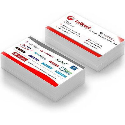Visitenkarten Drucken Ihre Vorlage Farbig 350g Business