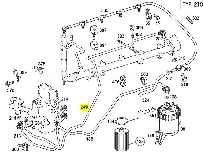 Auto-Ersatz- & -Reparaturteile Mercedes W163 ML 270 CDI E Klasse ...