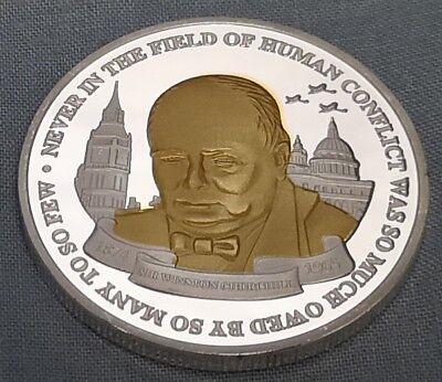 Winston Churchill Gold & Silver Coin Union Jack World War II 1874 1965 I Sir UK 4