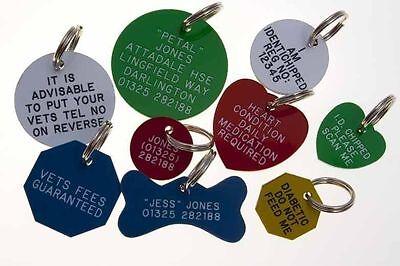 Quality Engraved Pet tag - mini acrylic circle 20mm