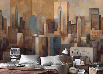 3D ABSTRACT PAINTING City Paper Wall Print Decal Wall Deco Indoor