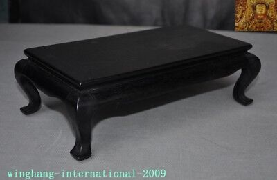 Old Chinese Rosewood Wood Carved Ancient Furniture coffee table Tea table desk 4