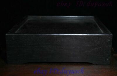 """10"""" Old Chinese Rosewood Wood handcrafted Two drawer small square tables Statue 7"""