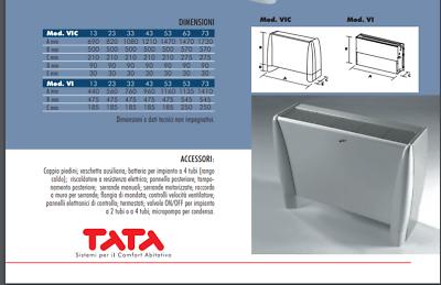 FAN COIL VENTILCONVETTORE Ventilconvettori INCASS Fujitsu Tata VI-IV 33 KW 5,70 7