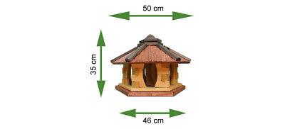 Mangeoire d'oiseaux mangeoires à oiseaux mangeoire avec le support bois jardin 7