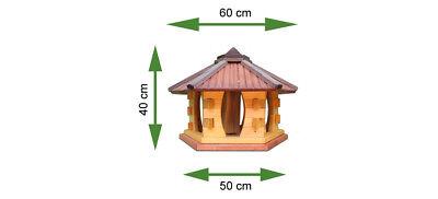 Mangeoire d'oiseaux mangeoires à oiseaux mangeoire avec le support bois jardin 8