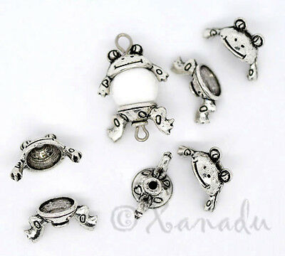 Bead Caps 18mm Wholesale Antiqued Silver Plated Findings C8359-10 20 Or 50PCs