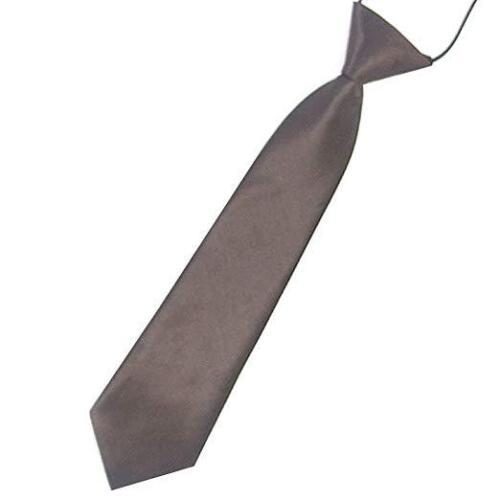Satin Elastic Neck Tie for Wedding Prom Boys Children School Creative Kids Ties 5