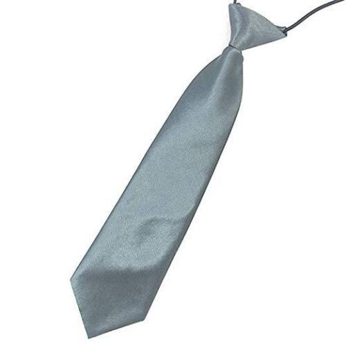 Satin Elastic Neck Tie for Wedding Prom Boys Children School Creative Kids Ties 4