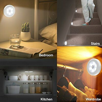 Indoor Outdoor 6LED Motion Sensor Stick On Light Battery Operated Stairs Hallway 5