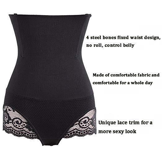 Women Slim Waist Trainer Cincher Body Shaper Panty Butt Lifter Underwear Corset 10