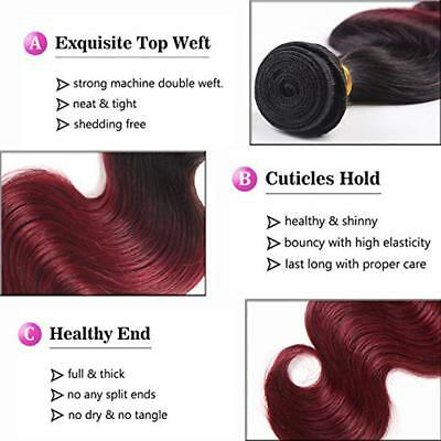 7A 1Tissage bresilien cheveux humains peruviens ombre remy 2 tons body wave 50g 7