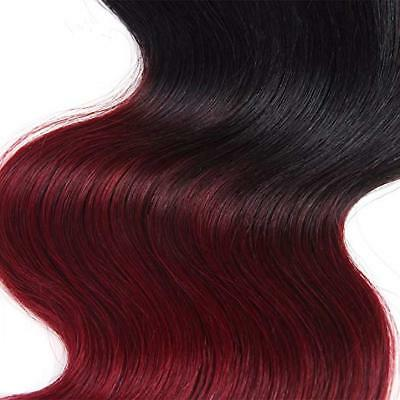 7A 1Tissage bresilien cheveux humains peruviens ombre remy 2 tons body wave 50g 2