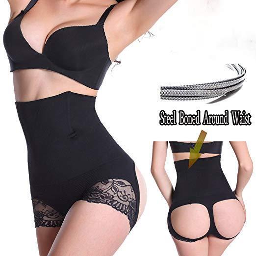 Women Slim Waist Trainer Cincher Body Shaper Panty Butt Lifter Underwear Corset 8