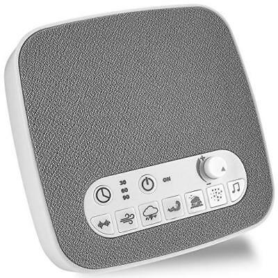 WHITE NOISE SOUND Machine Sleep Therapy Plays 7 soothing sounds+ Timers  etc