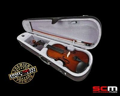 4/4 SIZE STUDENT VIOLIN OUTFIT PREMIUM SET UP VALENCIA SV114 with CASE+BOW+ROSIN