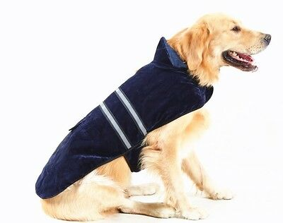 Reflective Fleece warm pet DOG Coat Winter Jacket Clothes Sweater 12
