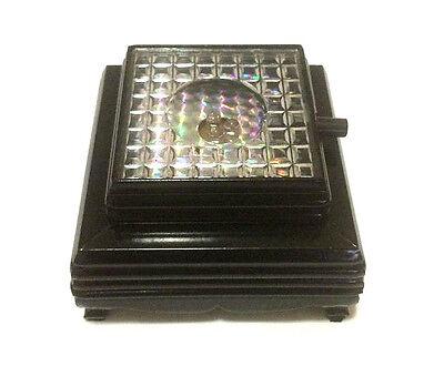 "3D Crystal Glass Trophy Laser 3 LED Battery Light Up Stand Base Display 2"" x 2"" 2"
