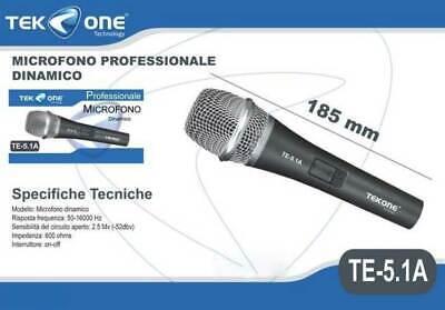 Microfono PROFESSIONALE Dinamico per Musica VOCE Karaoke Canto con CAVO Filo XLR 2