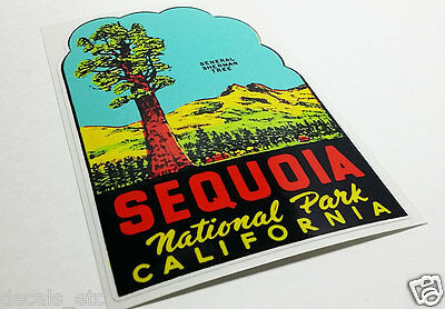 SEQUOIA NATIONAL PARK CALIFORNIA Vintage Style Travel DECAL / Vinyl STICKER 2