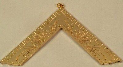 Freemason Masonic Officer Collar Gold Tone with Blue Backing