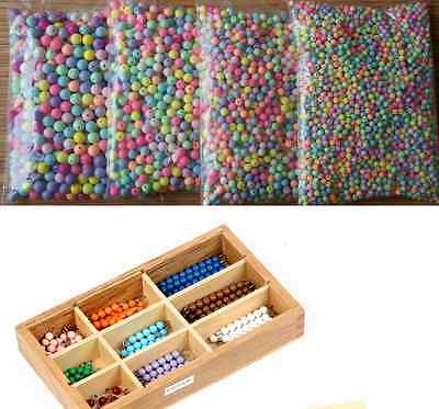 Smooth Ball Spacer Pastel Color Acrylic Round Loose Beads 4mm 6mm 8mm 10mm 12mm 2