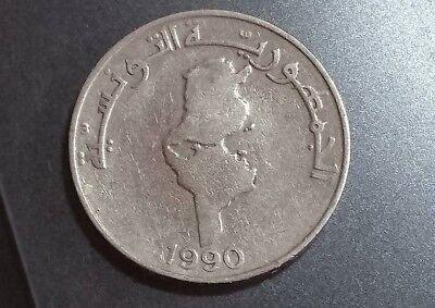 TUNISIA  1 Dinar 1990  KM319  copper-nickel 2