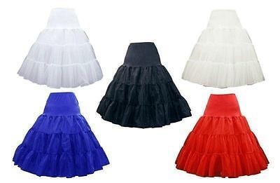 "AU SELLER 26"" Retro 50s Underskirt Rockabilly Bridal Petticoat Dance Tutu da018 2"