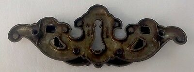 "Antique Hardware Furniture Part Vintage Brass Chippendale drawer pull 4""centers"