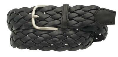 Cintura intrecciata vero cuoio 3,5 cm artigianale made in italy accorciabile