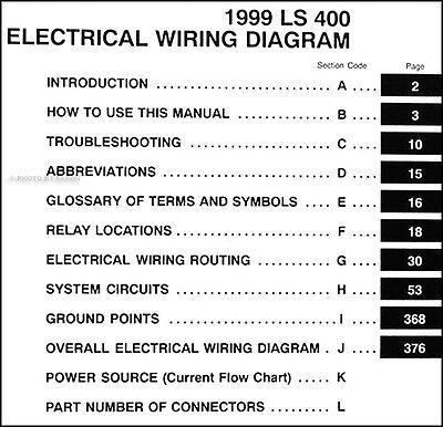 1999 LEXUS LS 400 Wiring Diagram Manual NEW Original LS400 OEM Electrical  Book - $39.00   PicClick   99 Lexus Gs300 Wiring Diagram      PicClick