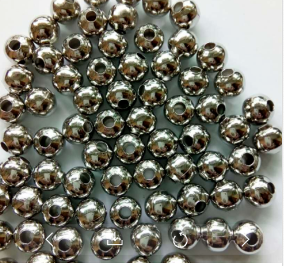 Wholesale Lot Silver Metal Round Spacer Beads Jewelry Craft 2mm 3mm 4mm 5mm 6mm 5