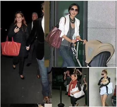 Women Fashion Tote Large Shopper Bags Canvas/Leather Handbag Medium Purse 11