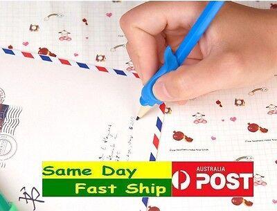 3x pencil grip kid Children Hand writing Correction Aid pen posture hold help 4