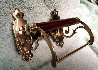Toilet Roll Holder Gold Brass Vintage Unusual Novelty Victorian Shabby Chic Old 7