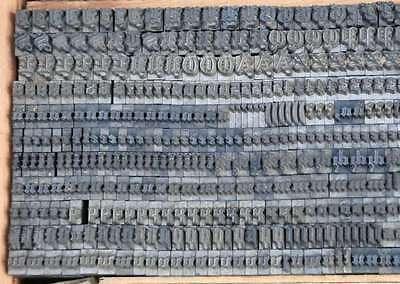 FRAKTUR 6mm Bleischrift Bleisatz  Alphabet Handsatz Bleilettern Typographie ABC 4