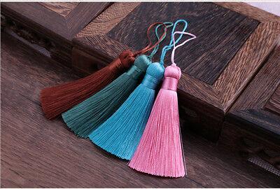 Hot 8cm 26 Colors Ice Silk Fat Tassel Trim Jewelry Making DIY Key Chian Pendant 6