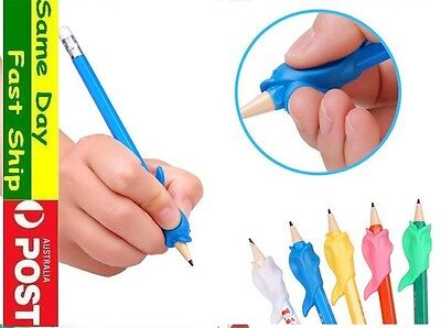 3x pencil grip kid Children Hand writing Correction Aid pen posture hold help 2