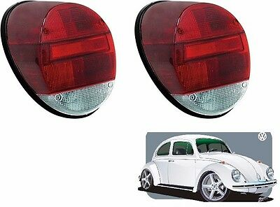 Vw Bug Left Or Right Tail Light Embly Complete Red White Volkswagen Beetle 10