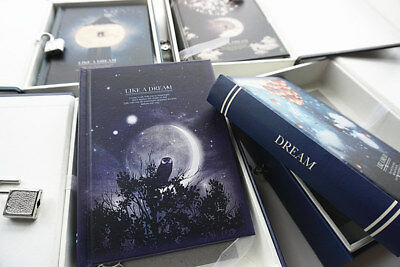 """Like a Dream"" 1pc Journal Notebook Lock Box Diary Cute Stationery Gift Package 4"