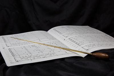 2St Orchesterstock Taktstock 39cm lang Harzgriff Dirigentenstock Set rot