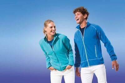 Regatta Mens Ashmore Micro Fleece Full Zip Jacket Coat High Vis Pockets Outdoor 2