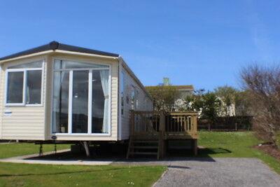 July 18-25 Deluxe Caravan Perran Sands. Cornwall, Wide, Decking, 2 X Tvs Ensuite 9