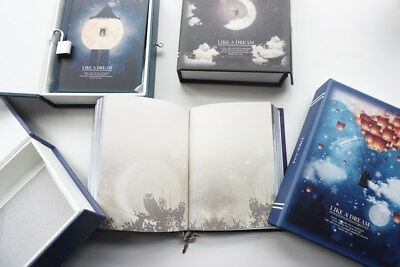 """Like a Dream"" 1pc Journal Notebook Lock Box Diary Cute Stationery Gift Package 8"