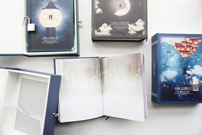 """Like a Dream"" 1pc Journal Notebook Lock Box Diary Cute Stationery Gift Package 7"