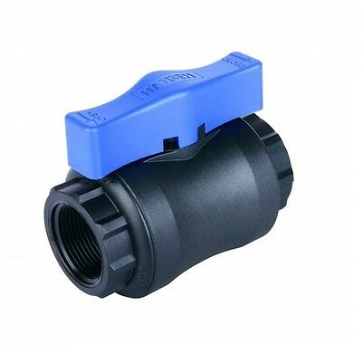 "Hansen Nylon Full Ball Valve, Frost Friendly, 16 Bar, 1/2"" to 2"" Sizes Available 3"