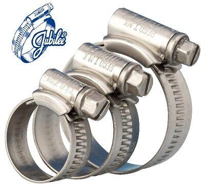 Jubilee Clips Mild Steel Zinc Genuine Jubilee Hose Clips Worm Drive Hose Clamps 7