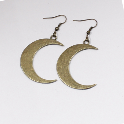 iridescent jewelry Wiccan earrings Crescent moon earrings boho moon earrings celestial earrings witch moon earrings festival earrings